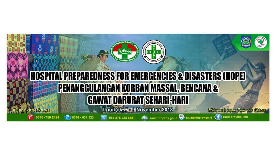 Kunjungan Tim PERSI Pusat Dalam Rangka Workshop Penanganan Bencana di RSUD Provinsi NTB