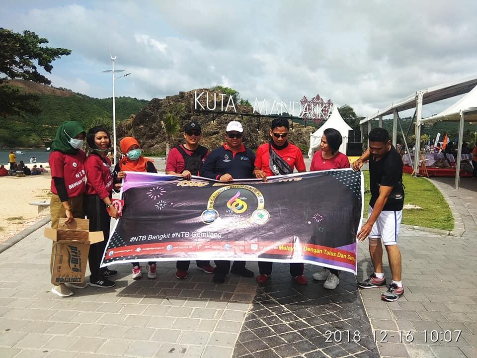 RSUD Provinsi NTB Ikuti Touring & Clean Up Pantai Kuta Mandalika dalam Rangka HUT Provinsi NTB Ke-60