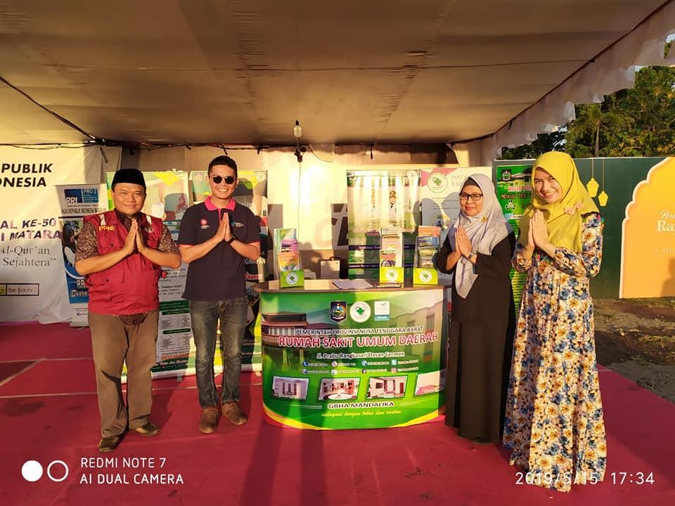RSUD Provinsi NTB Hadir dalam Acara Bazaar Khazanah Ramadhan di Islamic Center