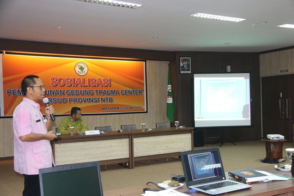 Sosialisasi Pembangunan Trauma Center RSUDP NTB Menyambut Penyelenggaraan Moto GP di Indonesia