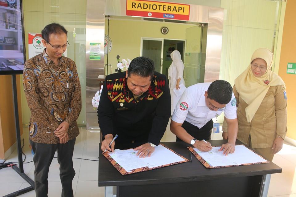 Penandatanganan Kerjasama  Pelayanan Radioterapi Bagi Pasien JKN di RSUD Provinsi NTB