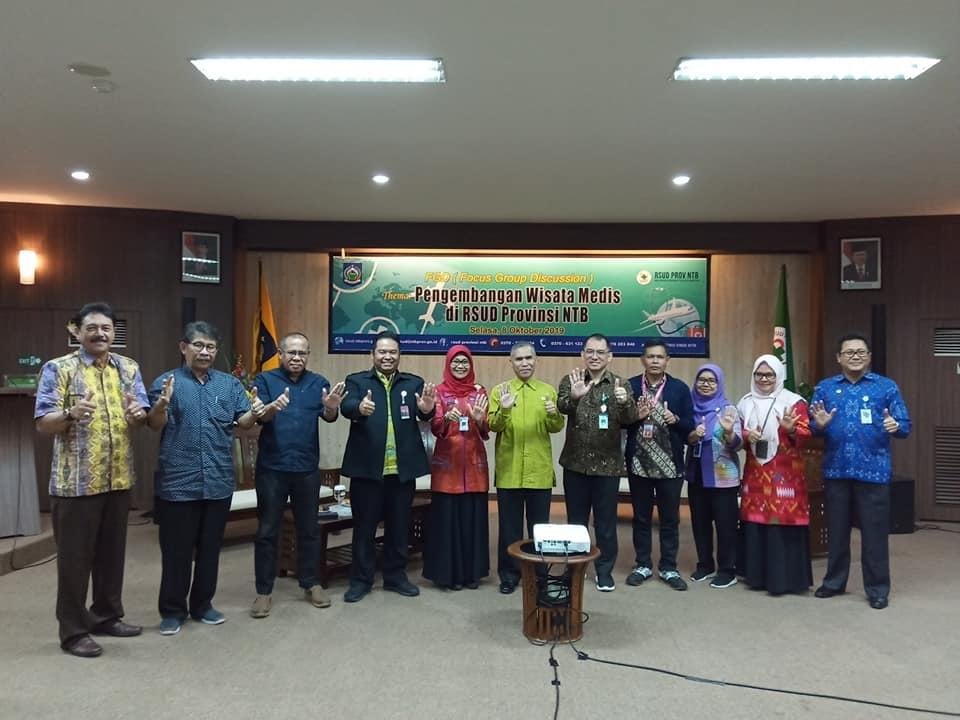 Focus Group Discussion Pengembangan Wisata Medis RSUD Provinsi NTB Bersama Kementerian Kesehatan RI