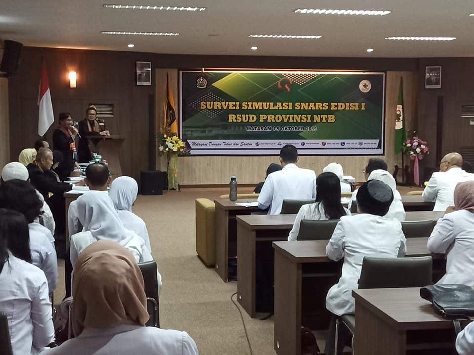 Survei Simulasi SNARS Edisi 1 RSUD Provinsi NTB Dimulai Hari Ini