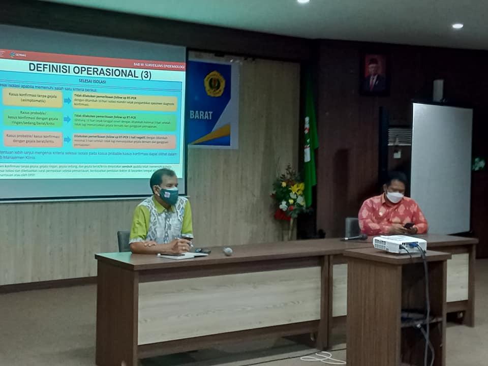 Sosialisasi Pedoman Pencegahan dan Pengendalian COVID 19 Revisi 5 Dilaksanakan di Aula Rinjani
