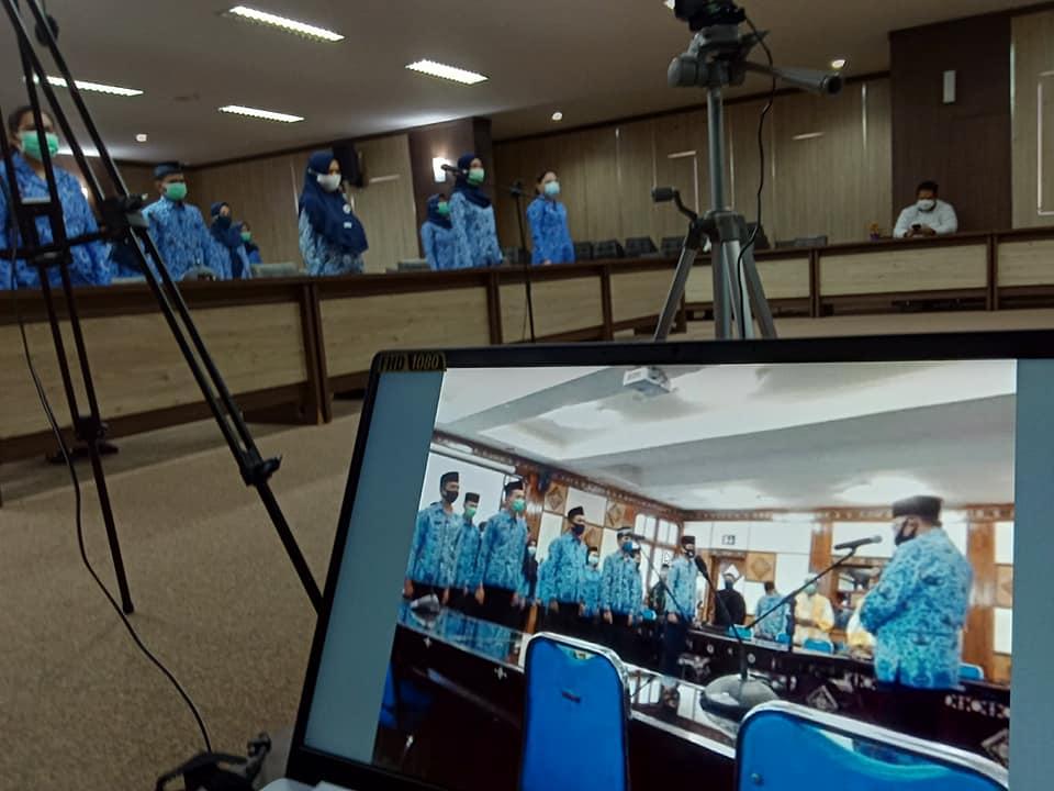 Pengambilan Sumpah / Janji PNS Lingkup Pemerintah Provinsi NTB Secara Virtual