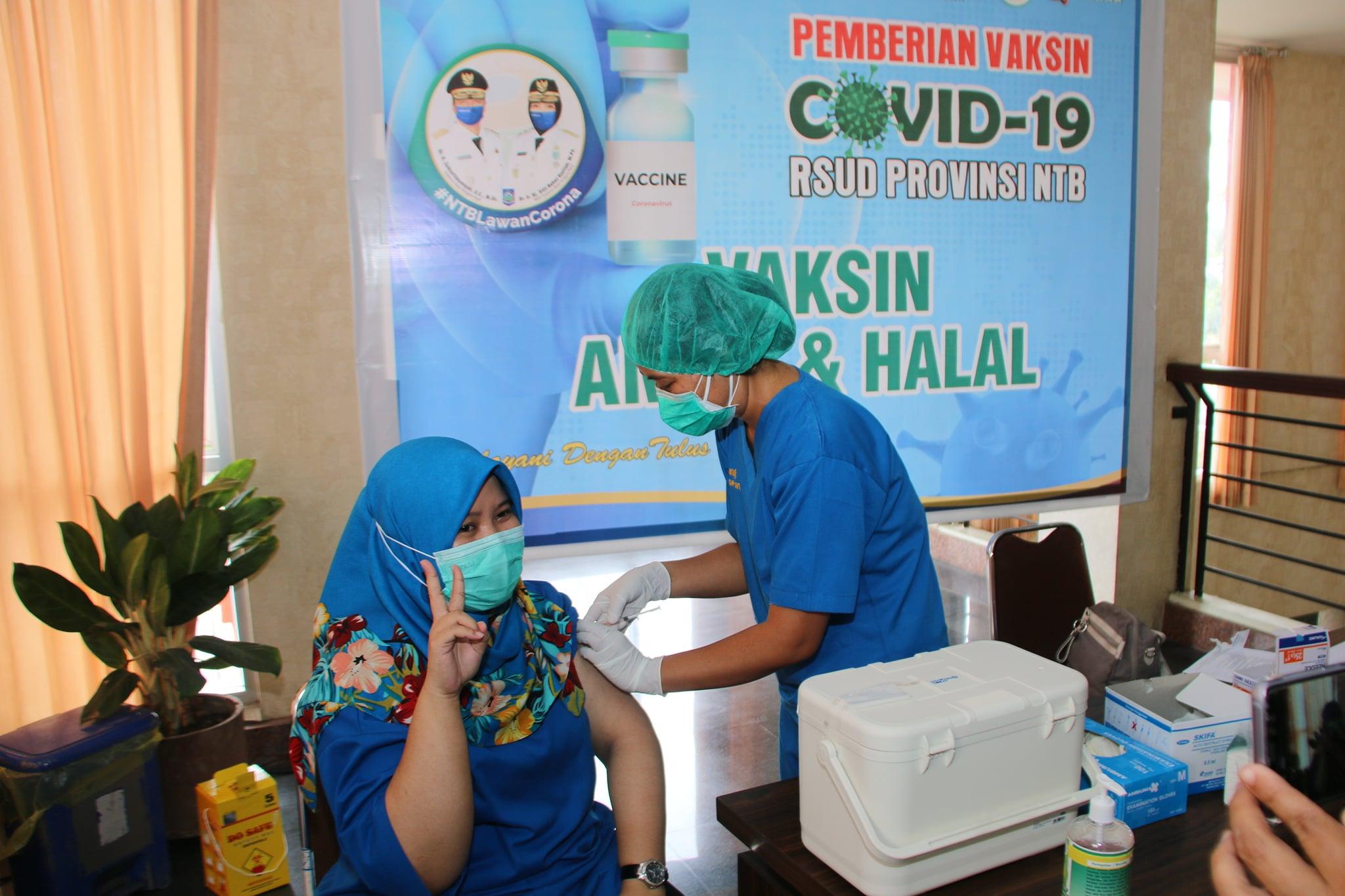 Hari Ketiga Pelaksanaan Pemberian Vaksin COVID-19 di RSUD Provinsi NTB