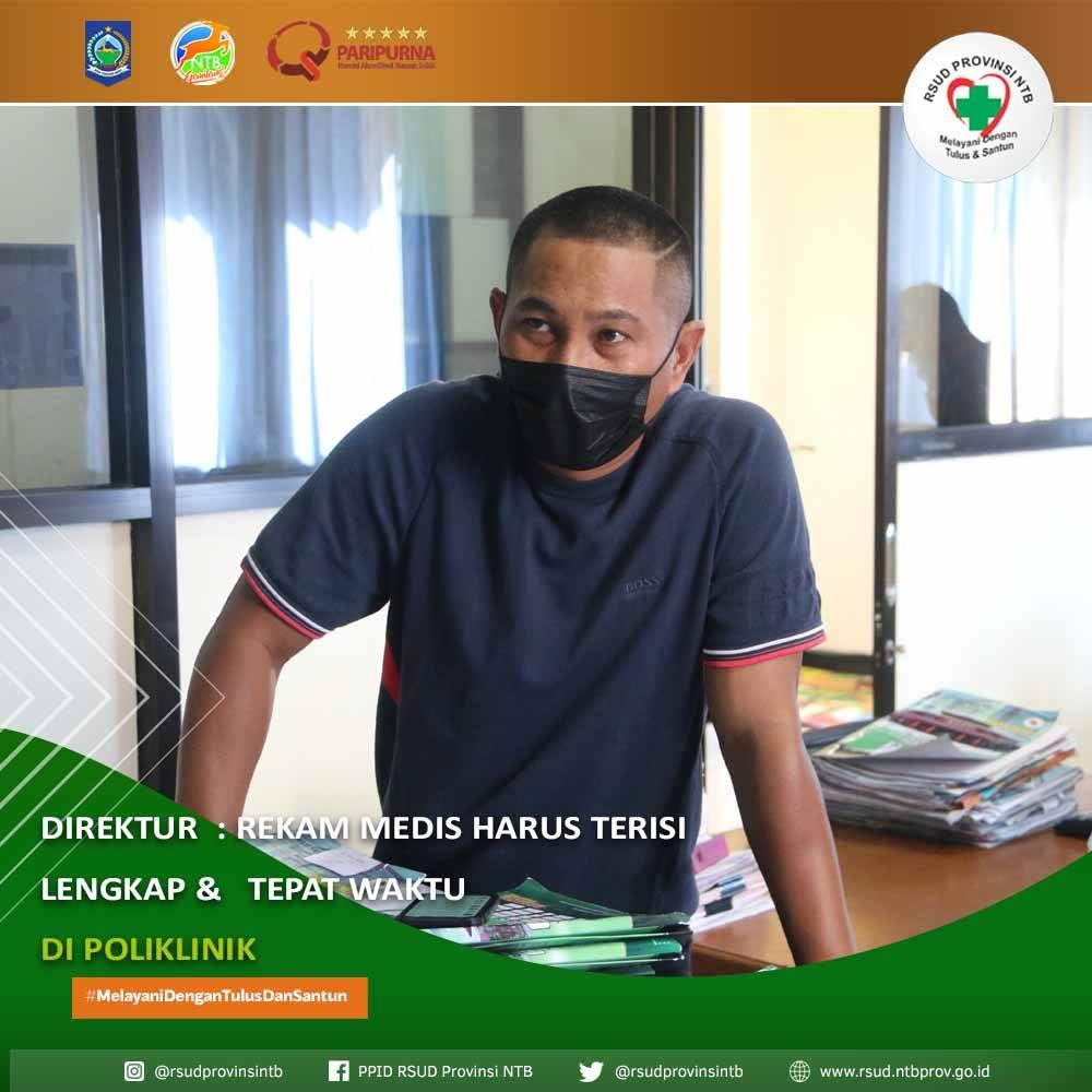 Direktur: Rekam Medis Harus Terisi Lengkap & Tepat Waktu di Poliklinik