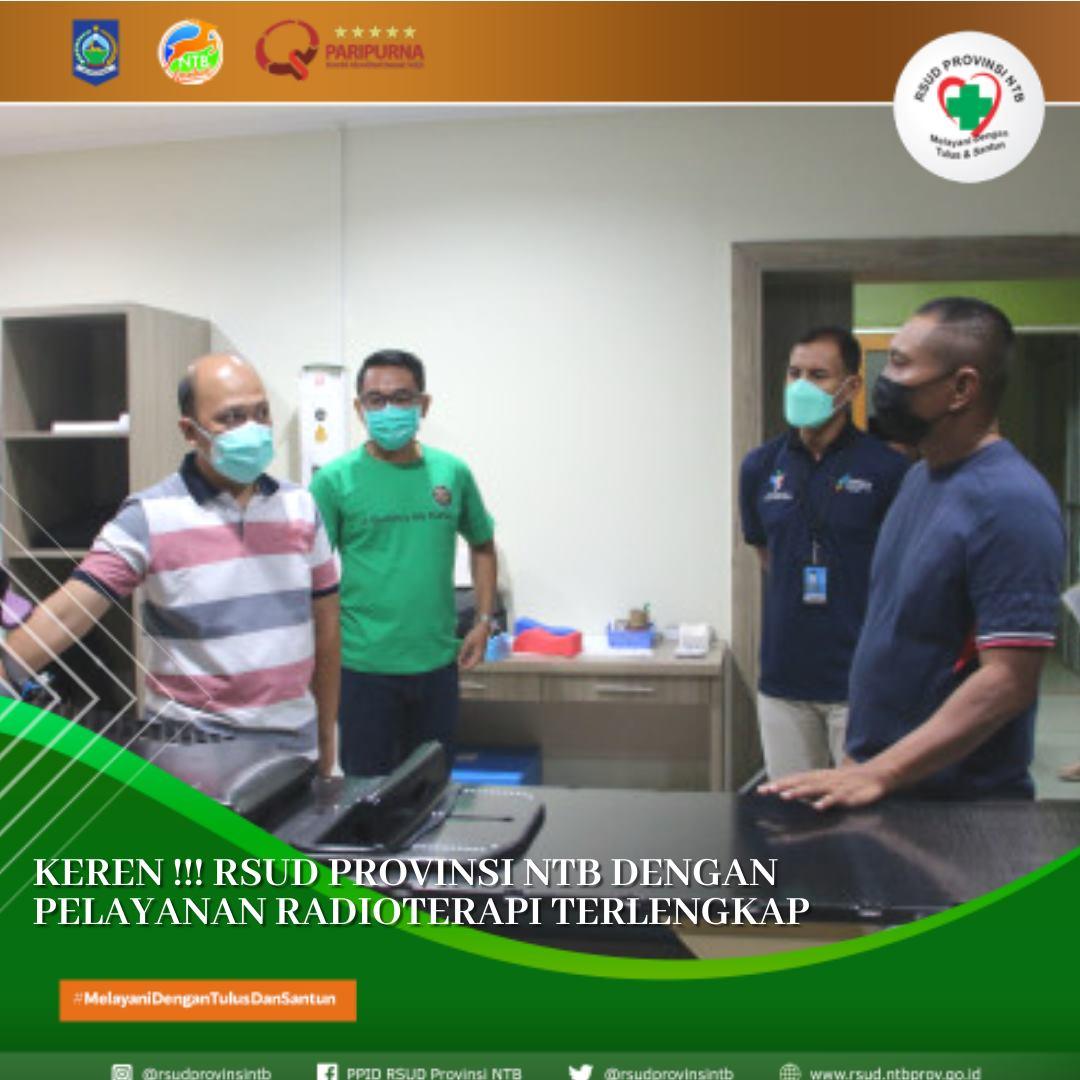 Keren! RSUD Provinsi NTB Memiliki Pelayanan Radioterapi Terlengkap