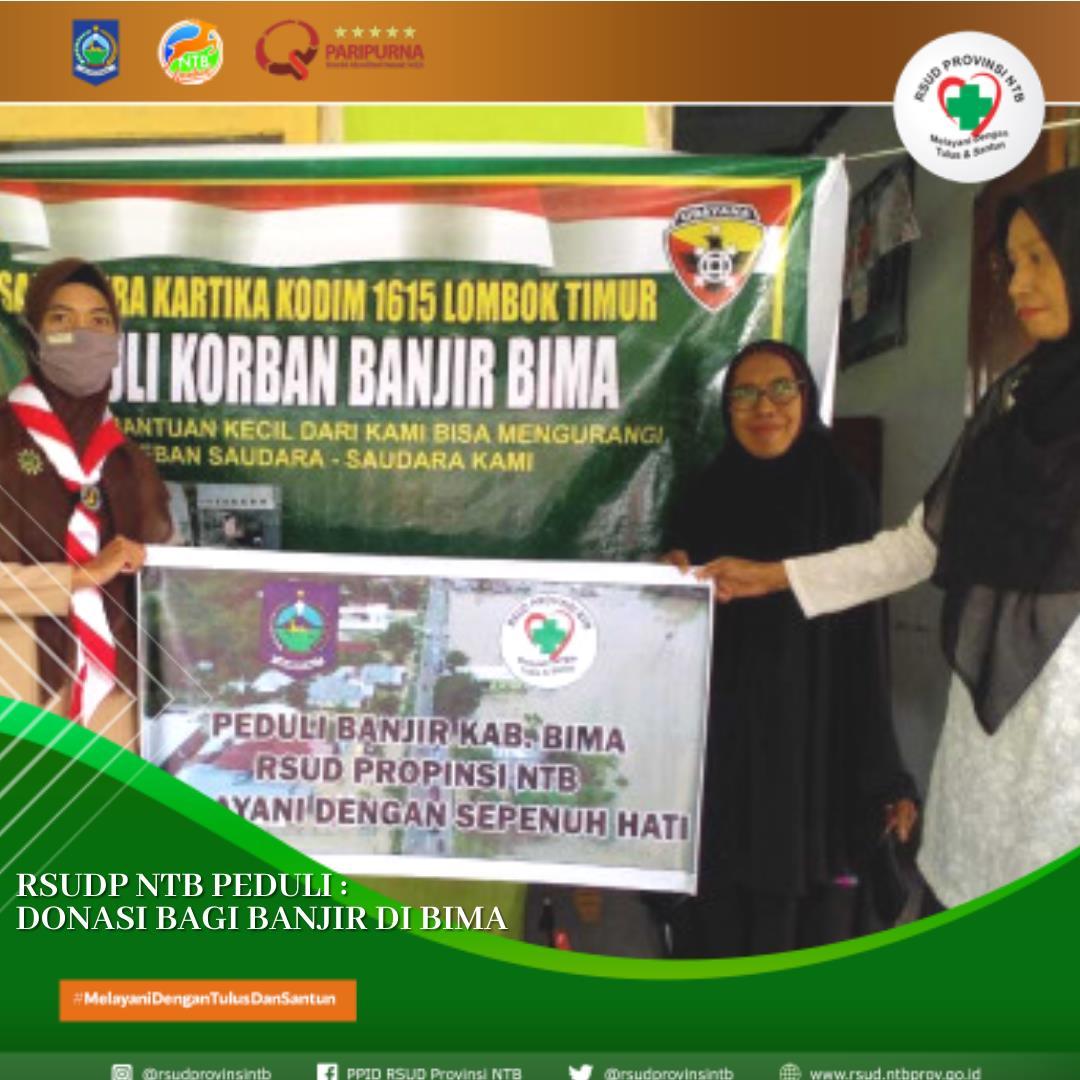 RSUD Provinsi NTB Membagikan Donasi Bagi Banjir di Bima