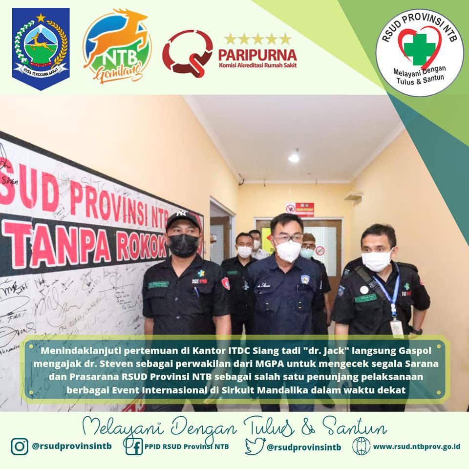 dr. Jack Ajak Langsung dr. Steven Selaku Perwakilan MGPA Untuk Mengecek Langsung Lokasi Pembuatan Helipad & Sarana Prasarana Lainnya di RSUD Provinsi NTB