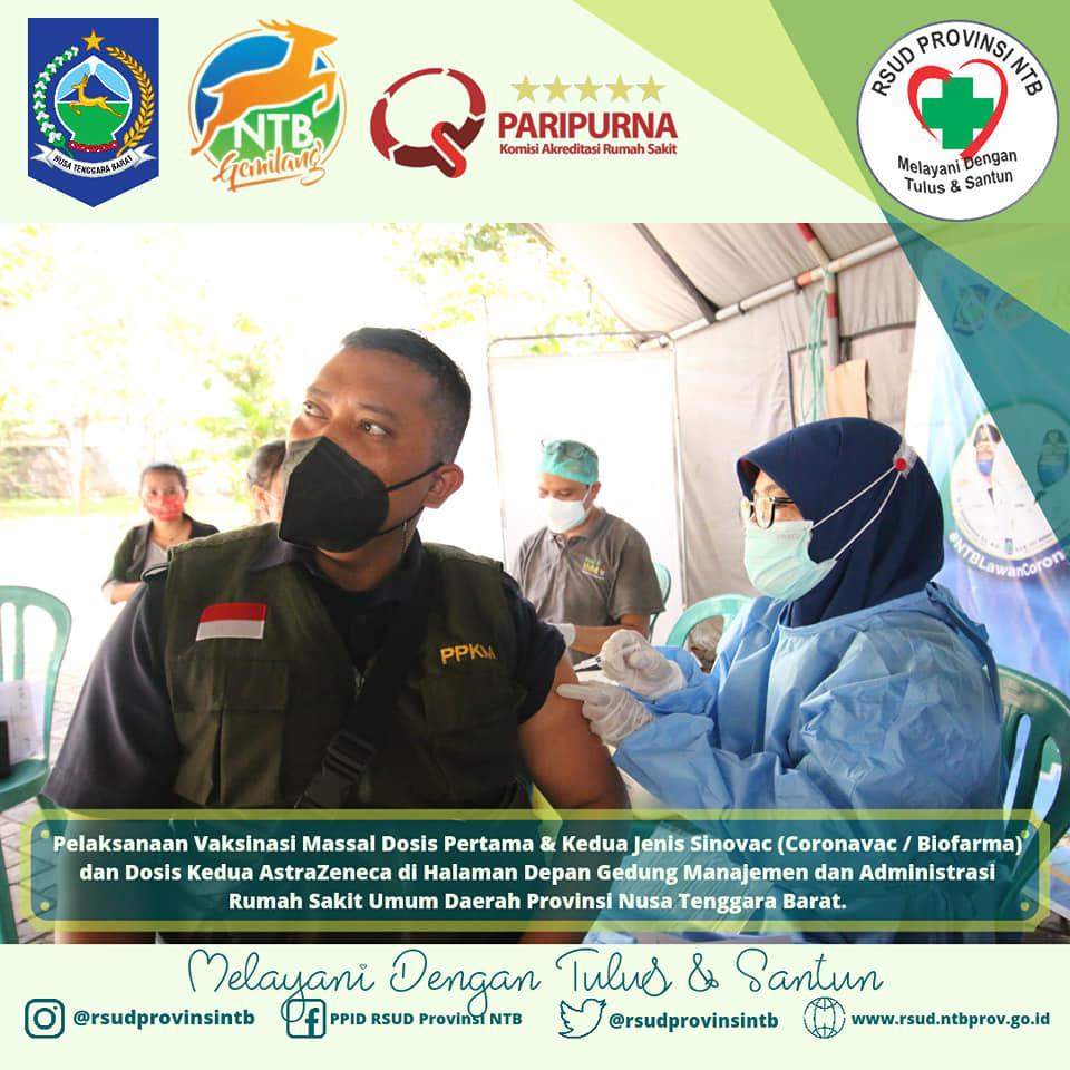 Pelaksanaan Vaksinasi Massal di RSUD Provinsi NTB (14/09)