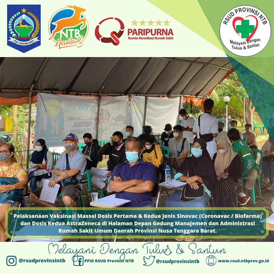 Pelaksanaan Vaksinasi Massal di RSUD Provinsi NTB (13/09)
