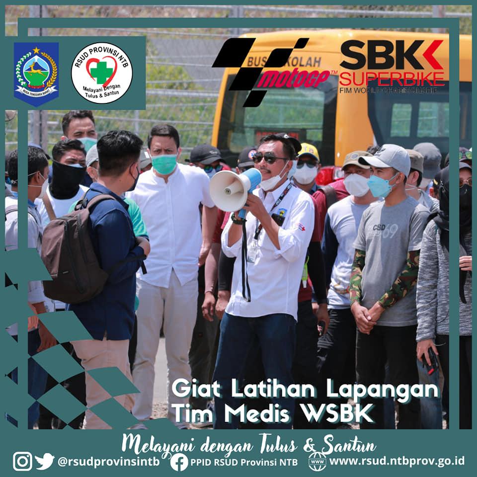 Pembekalan dan Pelatihan Langsung Tim Medis WSBK 2021 di Pertamina Mandalika International Street Circuit