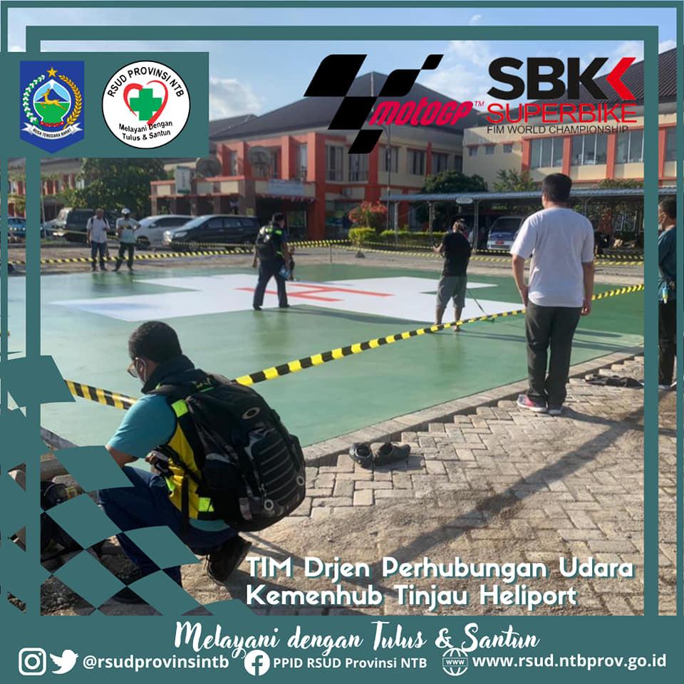 Perwakilan Dirjen Perhubungan Udara Kementerian Perhubungan Republik Indonesia Meninjau Langsung Pembangunan Heliport di RSUD Provinsi NTB