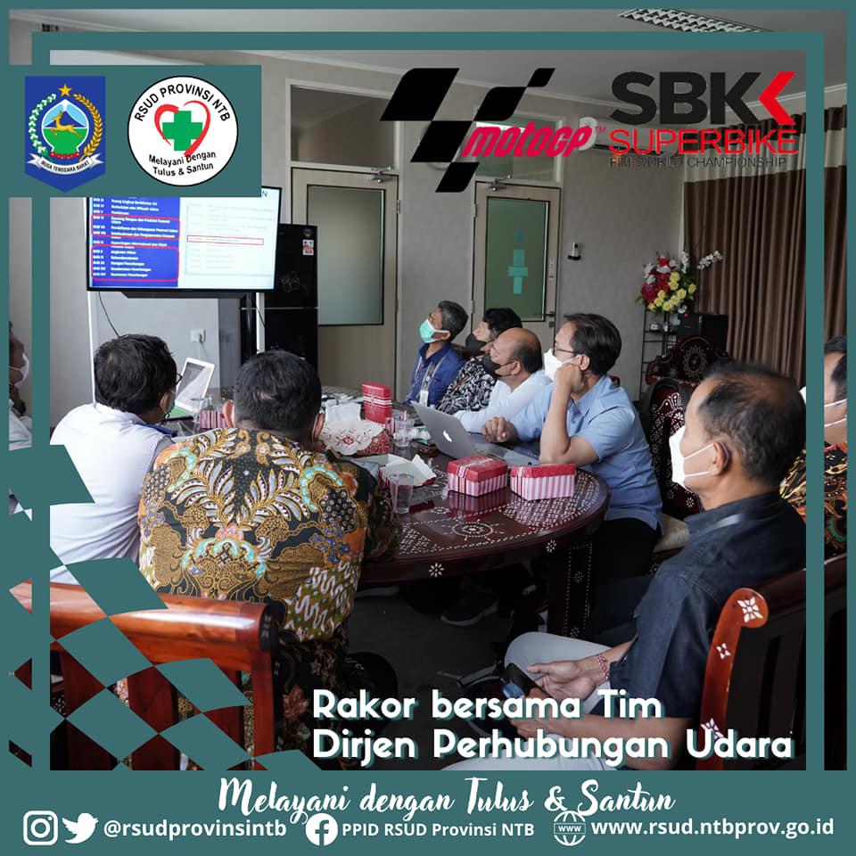 Rapat Koordinasi Tim Dirjen Perhubungan Udara dengan Jajaran Direksi dan Manajemen RSUD Provinsi NTB Terkait Pembangunan Heliport